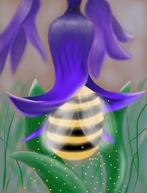 """Pollinating Gentleness"" Digital Print"
